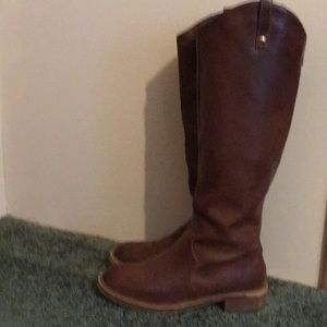 Brown Express Vegan Leather Riding Boots